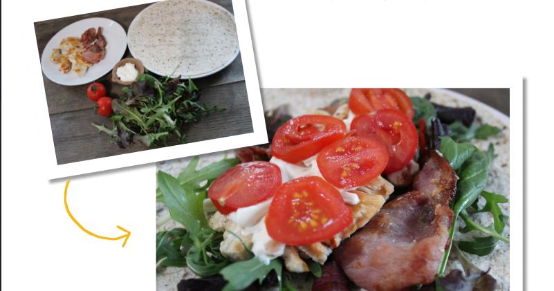 Chicken & bacon salad wrap