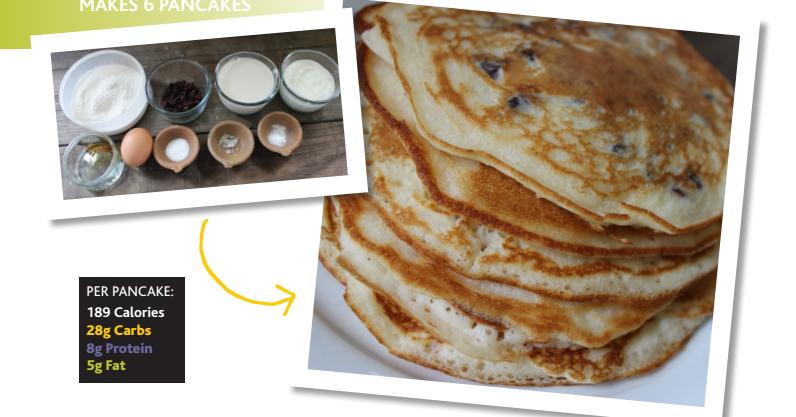 Fluffy vanilla pancakes