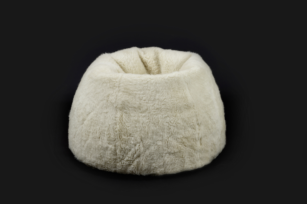 - Bean Bag Short Pile Beige - Ø 60 cm / 23,6 Inch for Kids, 90 cm / 35,4 Inch for Adults