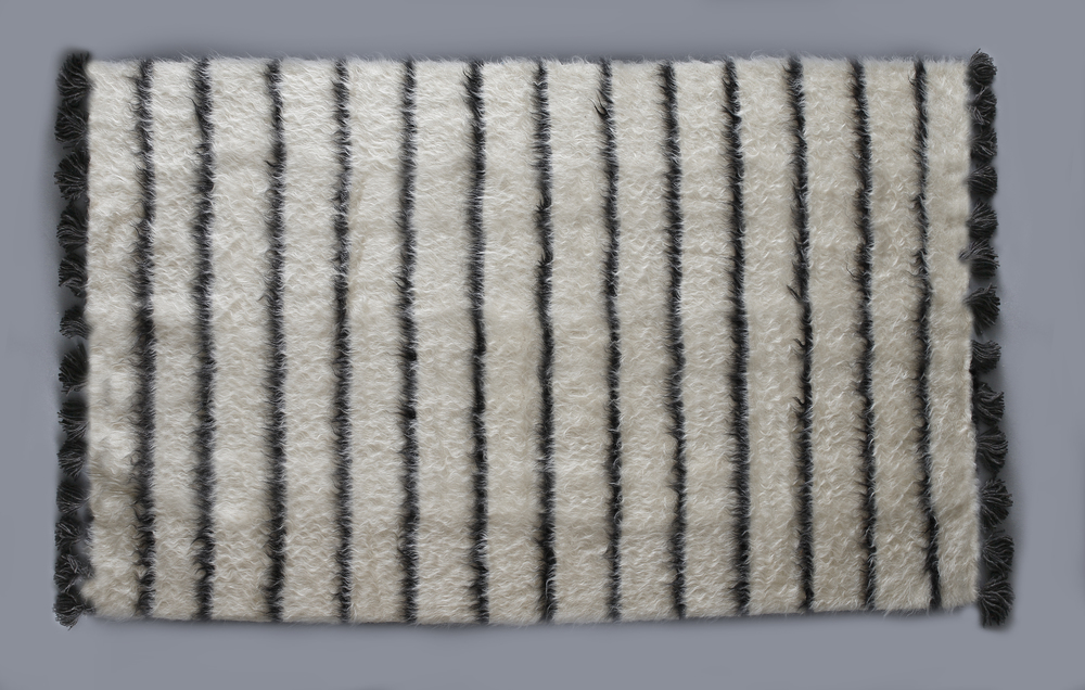 Rug of Mohair of Angora goat - Stripes 2