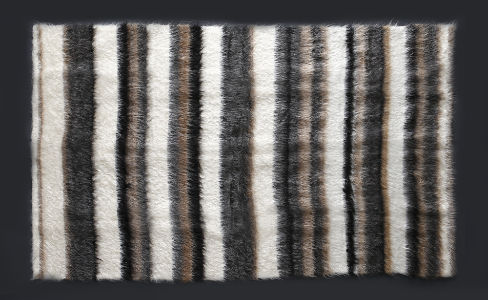 Rug of Mohair of Angora goat - Stripes 3