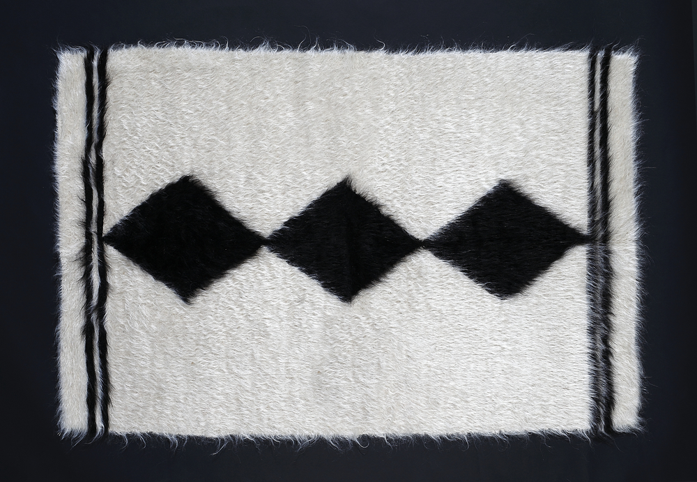 Rug of Mohair of Angora goat - Rhombus