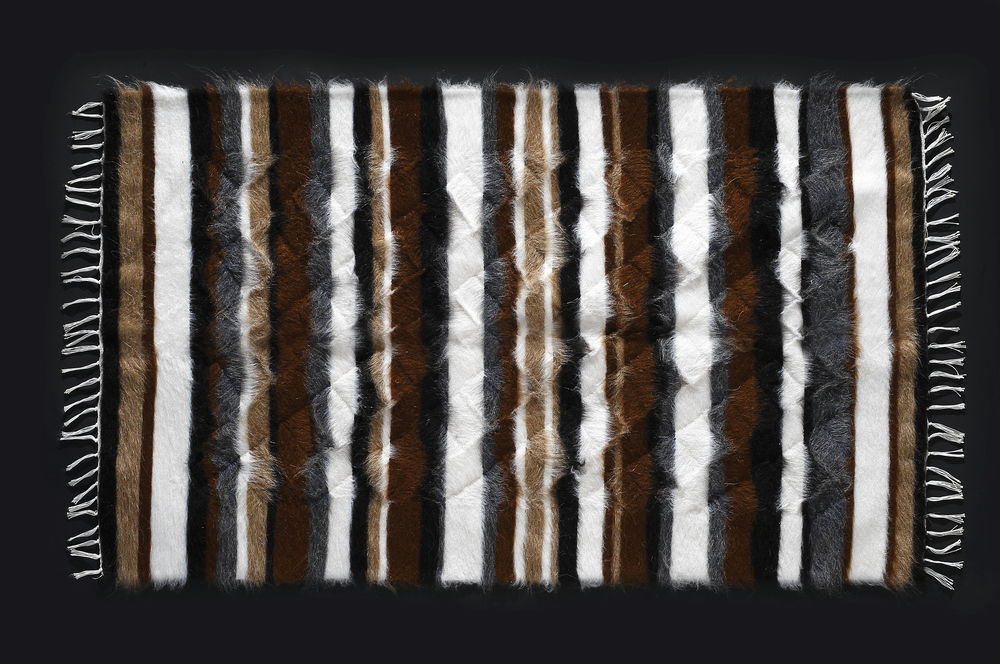 Rug of Mohair of Angora goat -   Stripes 8