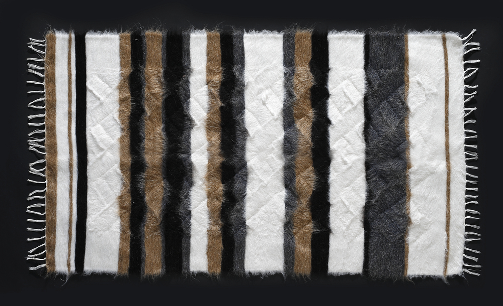 Rug of Mohair of Angora goat -   Stripes 10