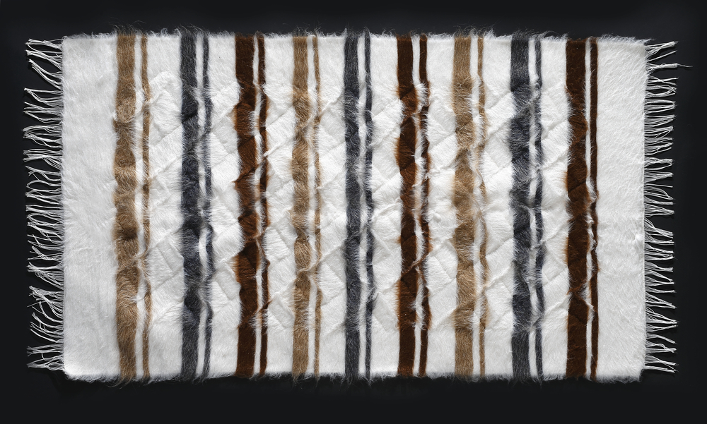 Rug of Mohair of Angora goat -   Stripes 9