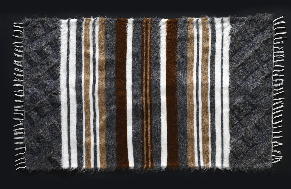 Rug of Mohair of Angora goat -   Stripes 7