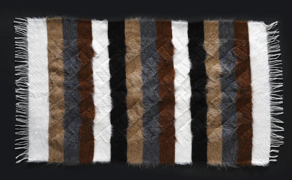 Rug of Mohair of Angora goat -  Stripes 11
