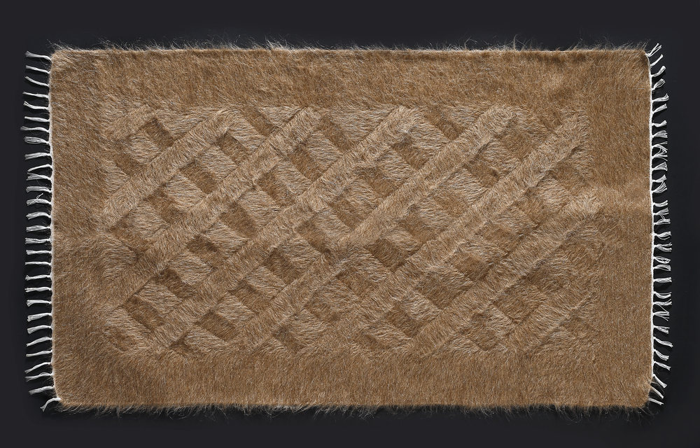 Rug of Mohair of Angora goat -   Camel