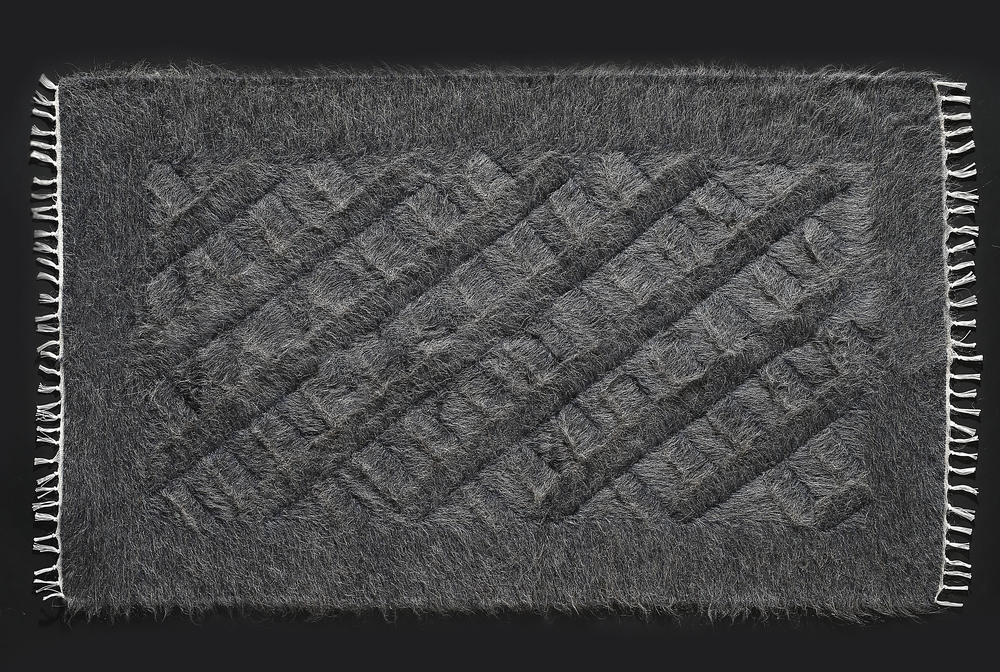 Rug of Mohair of Angora goat -   Grey