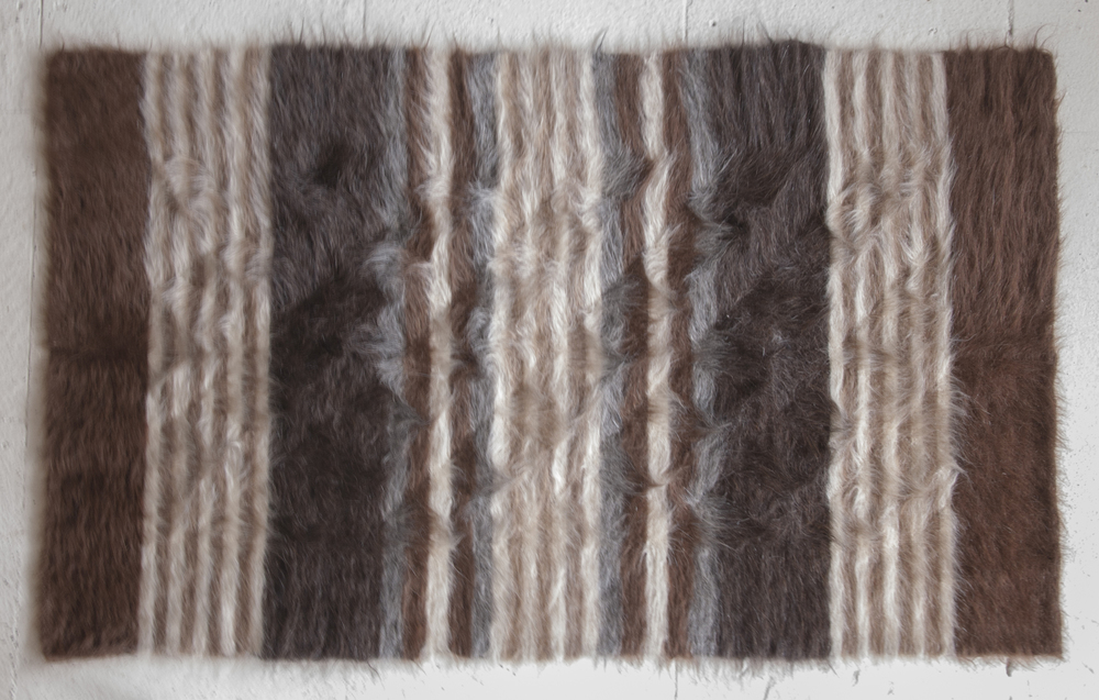 Rug of Mohair of Angora goat - Stripes 1