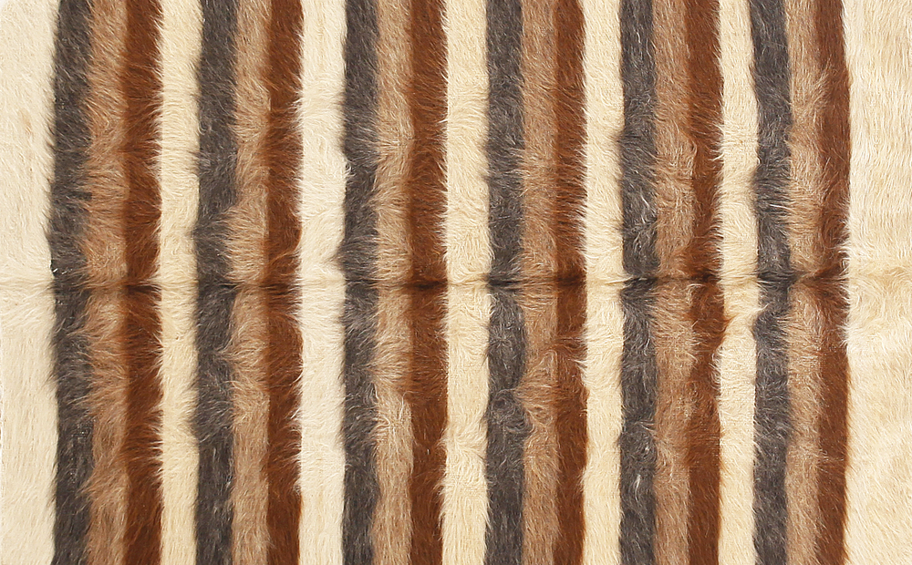 Rug of Mohair of Angora goat - Stripes 5