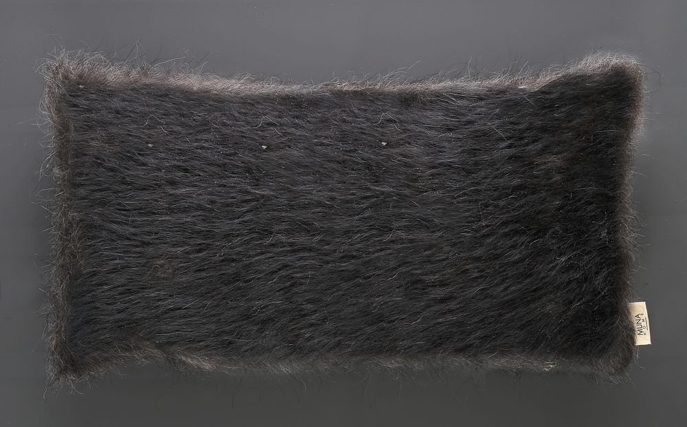 Cushion of Mohair of Angora goat - Black