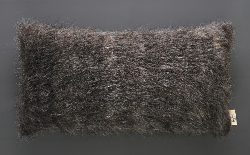 Cushion of Mohair of Angora goat - Grey