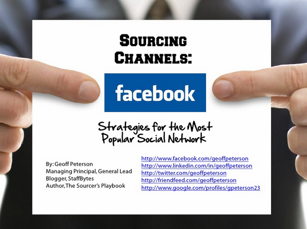 Facebook Sourcing Strategies View on Slideshare