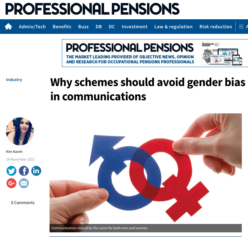 Gender bias in Pension Communication