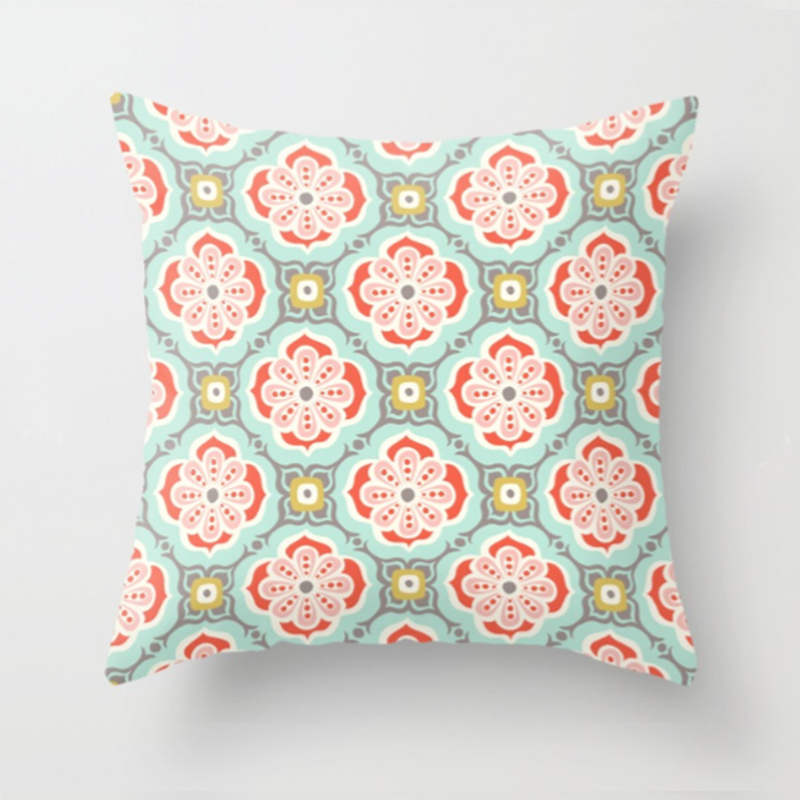 Alhambra Tile printed pillow