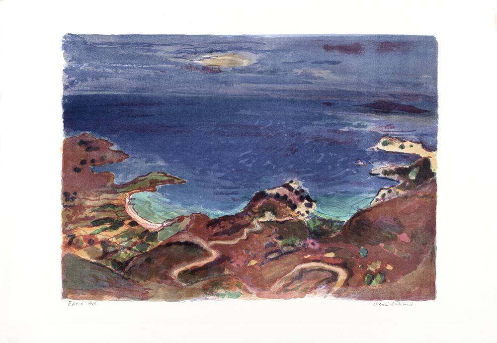Küste auf Kreta  Lithografie, 63x91cm
