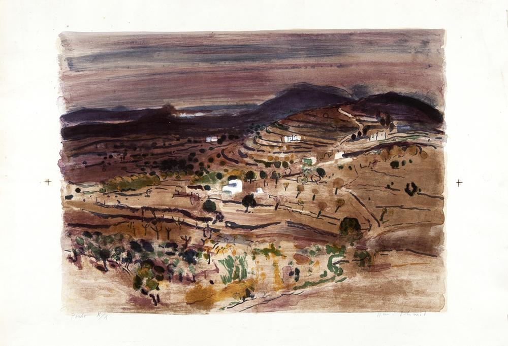 Ibiza Landschaft  Lithografie, 63x89cm