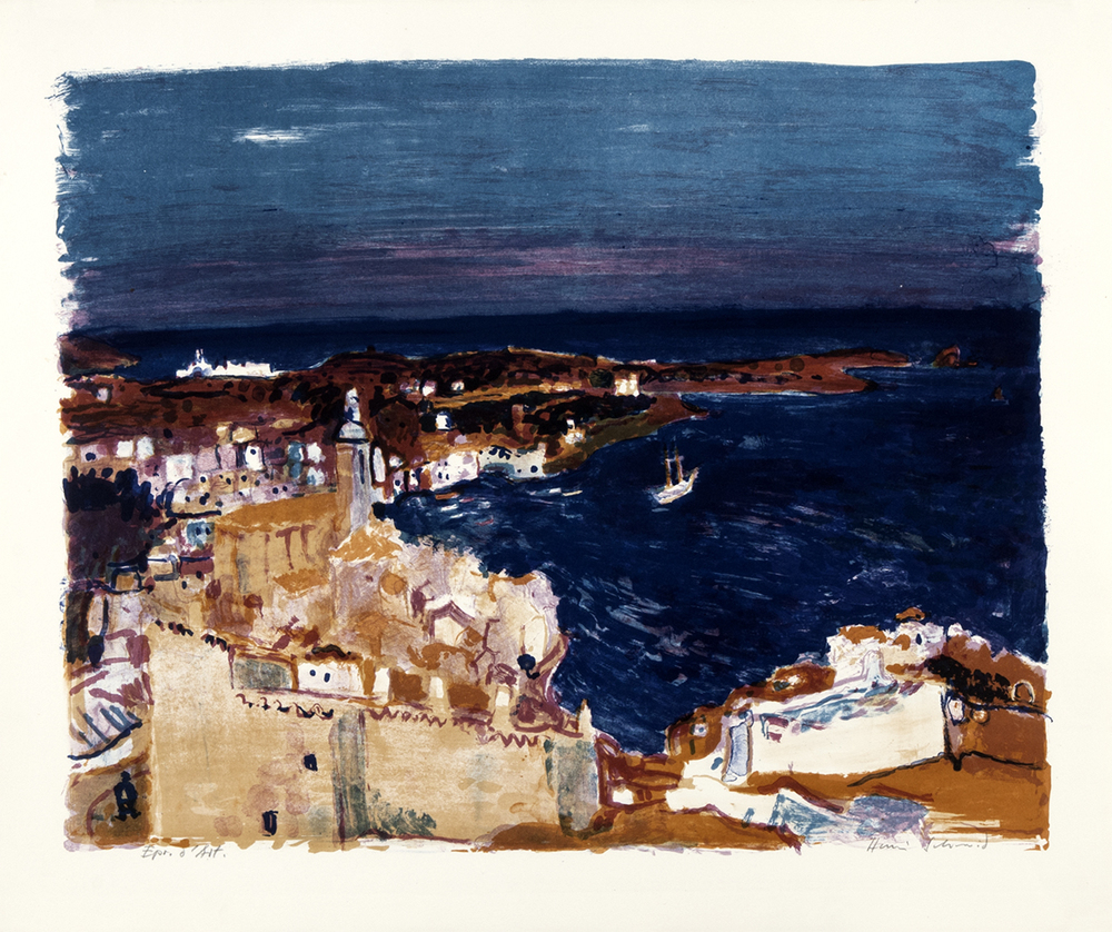 Dunkles Meer, Cadaqués  Lithografie, 64x76cm