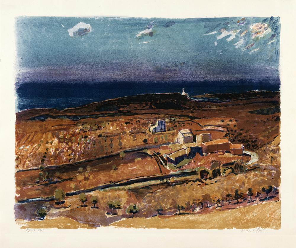 Landschaft auf Mallorca  Lithografie, 63.5x76cm