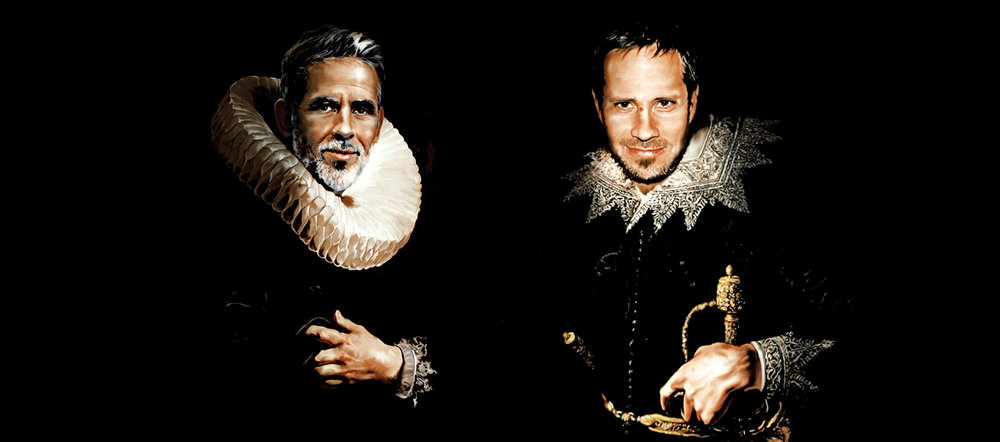 Die kreativen Täter Francisco Rojas und Diobe Wyss in einer undatierten Selbstdarstellung. Die beiden Herren sehen in Wirklichkeit besser aus und sind in der Regel unbewaffnet.