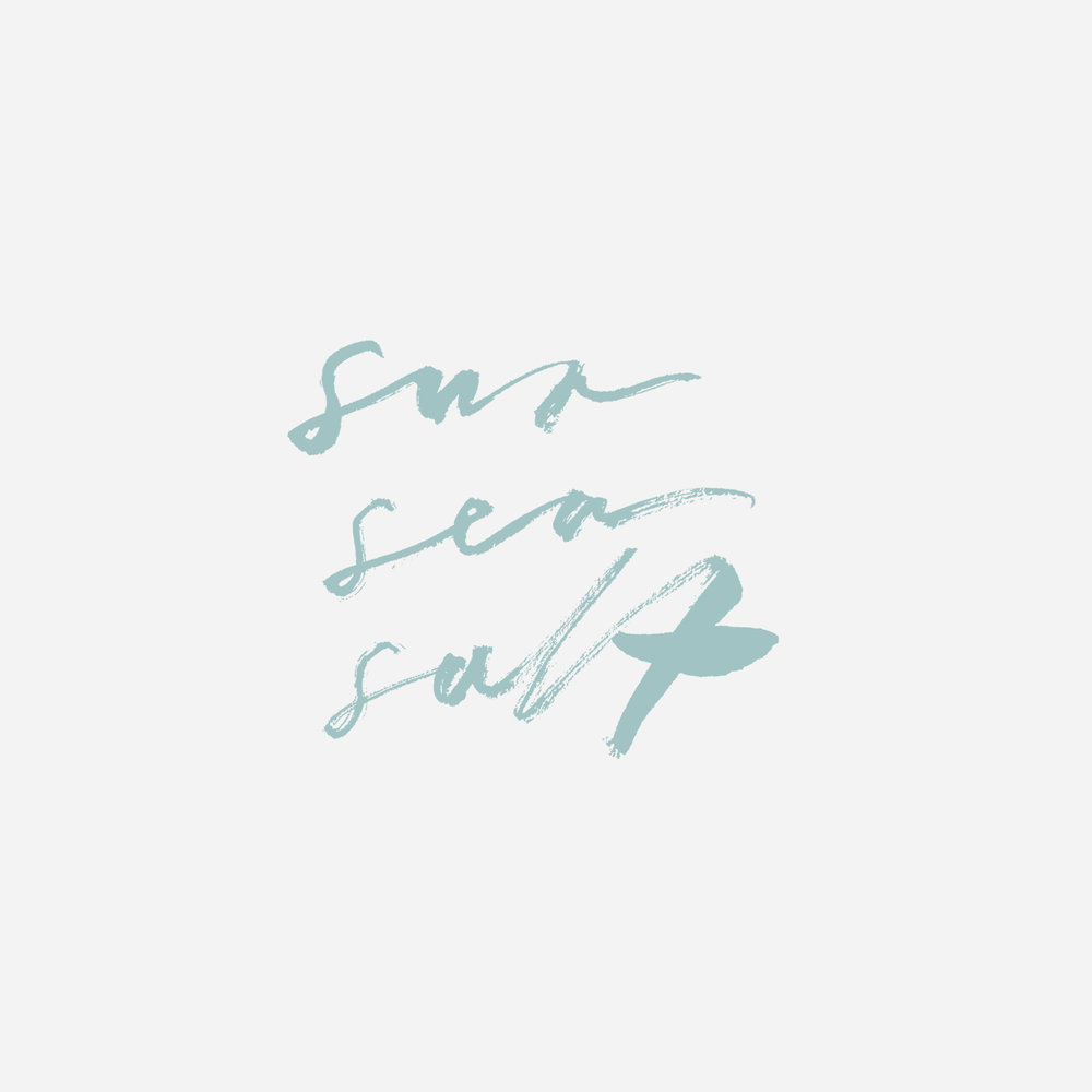 Sun Sea Salt Lettering by Belinda Love Lee