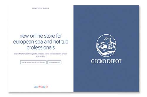 new web Gecko Depot europe