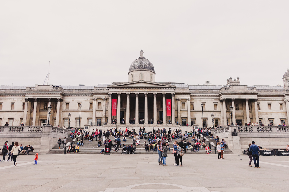 the national gallery london trafalgar square exterior