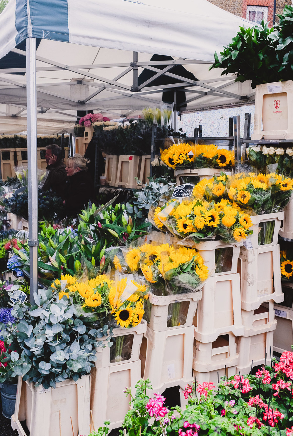 columbia road flower market london sunflowers iamsuanlee