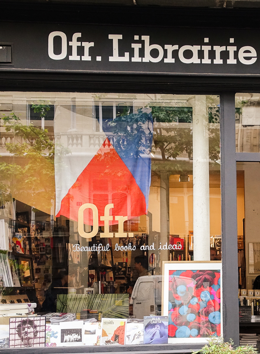 ofr paris libarie bookstore outside window shopfront
