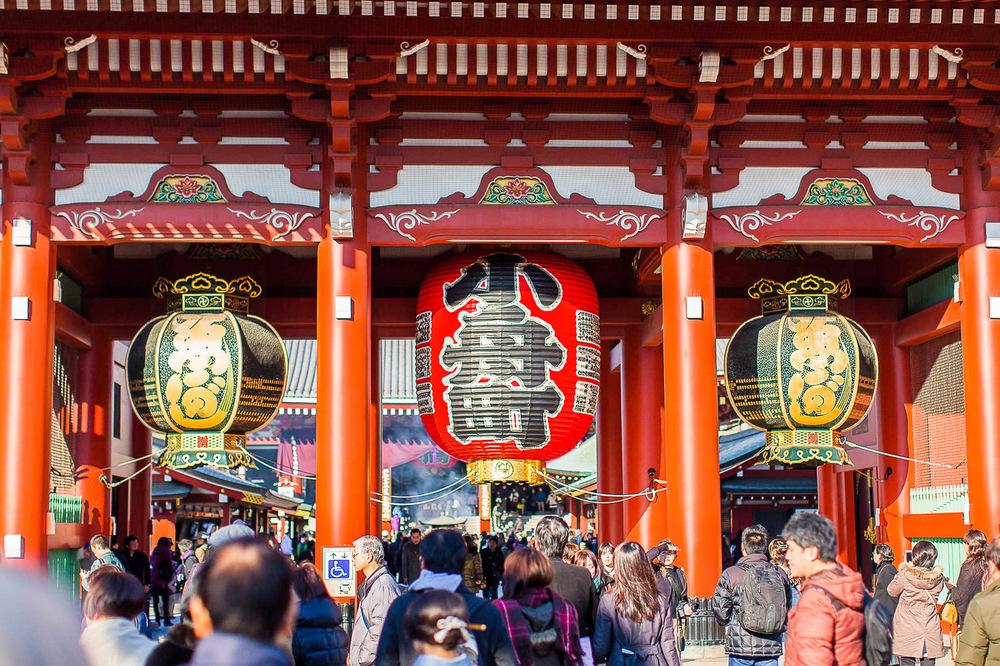 japan tokyo sensoji shrine people temple