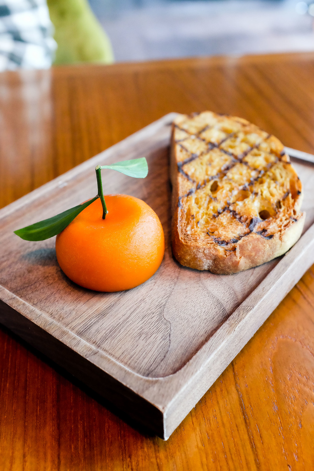 Meat Fruit (c.1500) - Mandarin, chicken liver parfait & grilled bread $38.00