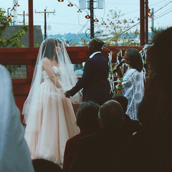 #LEMBAsbride in her mireya circle veil (blush)