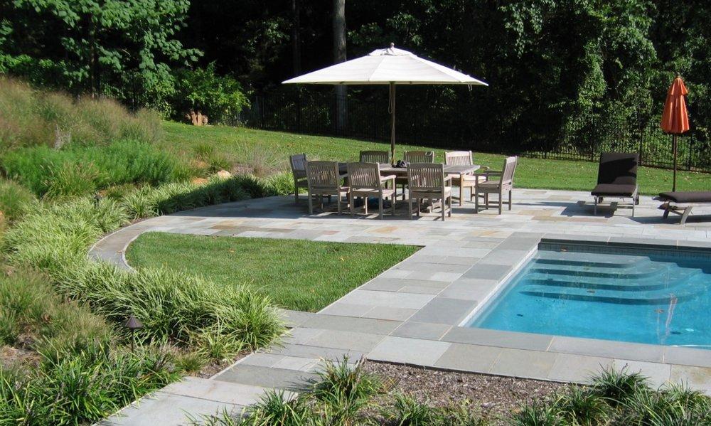 lap pool dining area