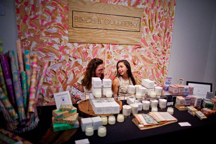 Two of the Birch & Goldberry ladies at Fresh Arts'  Winter Holiday Art Market  this past November.    Image courtesy  Morris Malakoff Photography .