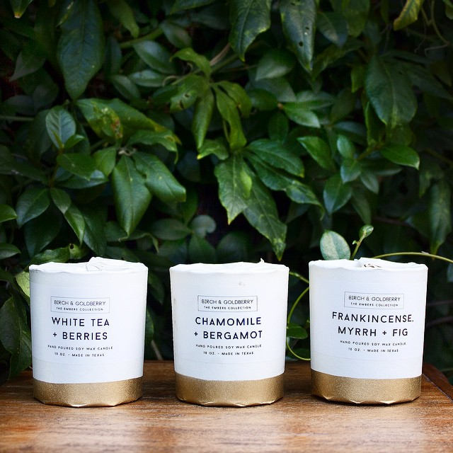 Our new candle packaging for the winter season.