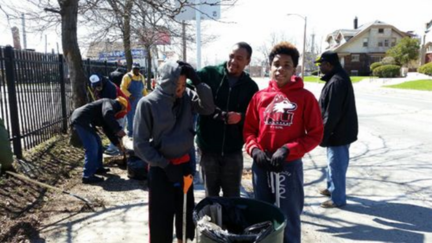 Laymen and Junior Laymen neighborhood Clean-up
