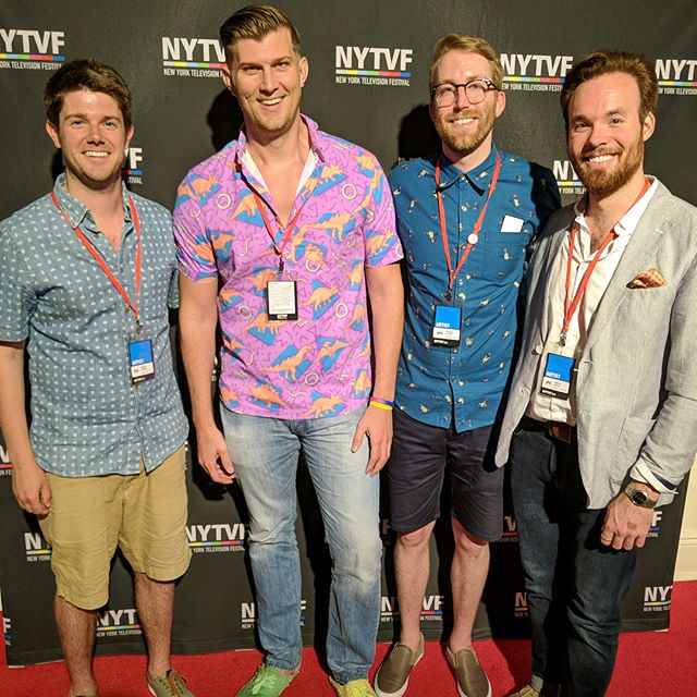 A few days after the fest and we still can't believe it. Thank you @nytvf for putting together an incredible week! We'll see you all real soon. . . . . . #omegahouse #pledgeomegahouse #animation #animated #comedy #tv #television #fraternity #frat #brothers #bros #mutants #apocalypse #nyc #newyork #chicago #redcarpet #premiere #nytvf #nytvf2018 #festival #seeyousoon #moretocome #writer #actor #producer #vo #comedycentral #familysquid #mudmarc
