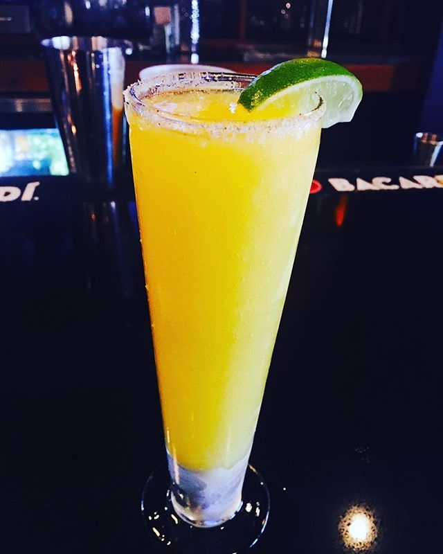 Try our new #drinkspecial.. the Mighty Mango Margarita! Frozen mango marg, spicy cayenne salt rim and fresh lime with @eljimadortequila 🤗🤗