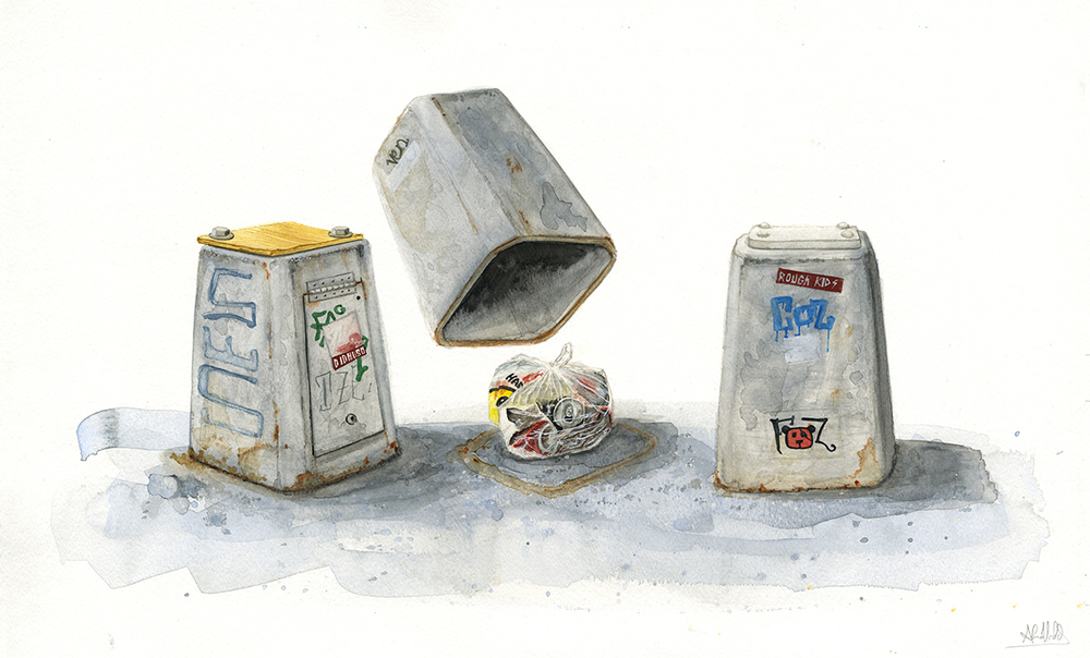 """A con's game""  2014  Watercolor on paper  18""x24""  Available"