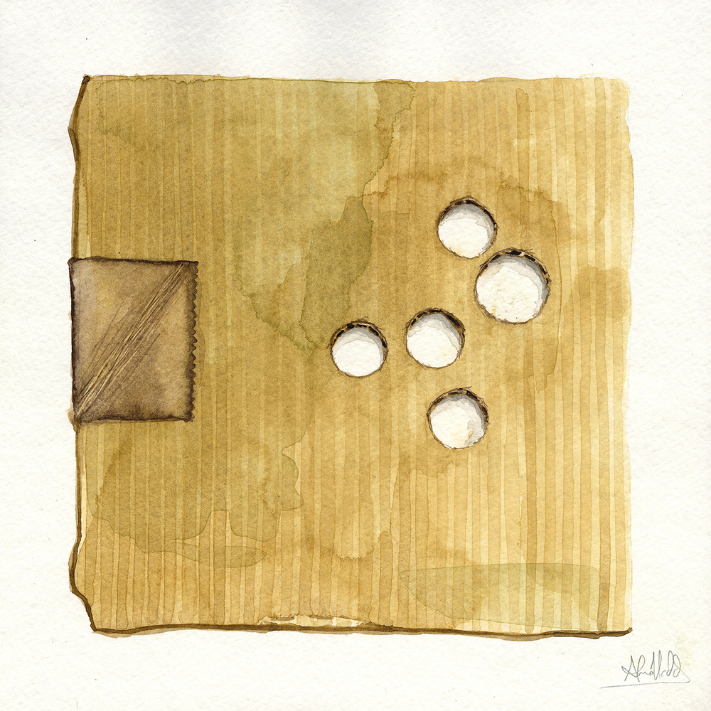 """Negative thirty eight cents""  2015  Watercolor on paper  9""x9""  Available"