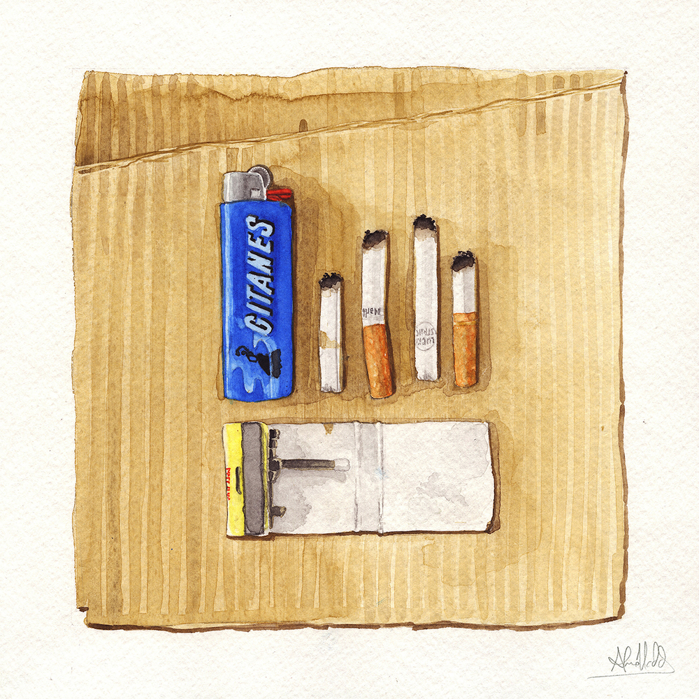 """Another Life - Chapter 9""  2015  Watercolor on paper  9"" x 9""  Available"