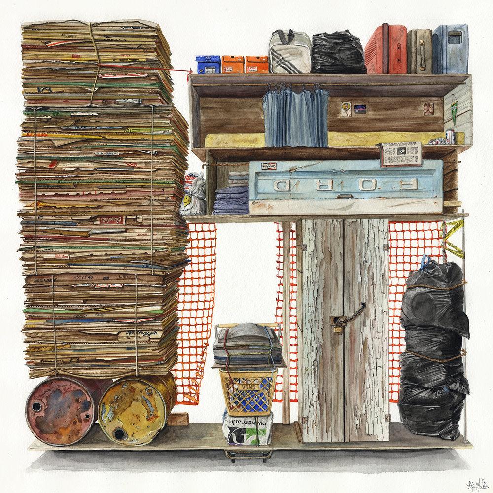 """""""Eldorado, 783""""  2016  Watercolor on paper  23"""" x 23"""" inches  • SOLD"""