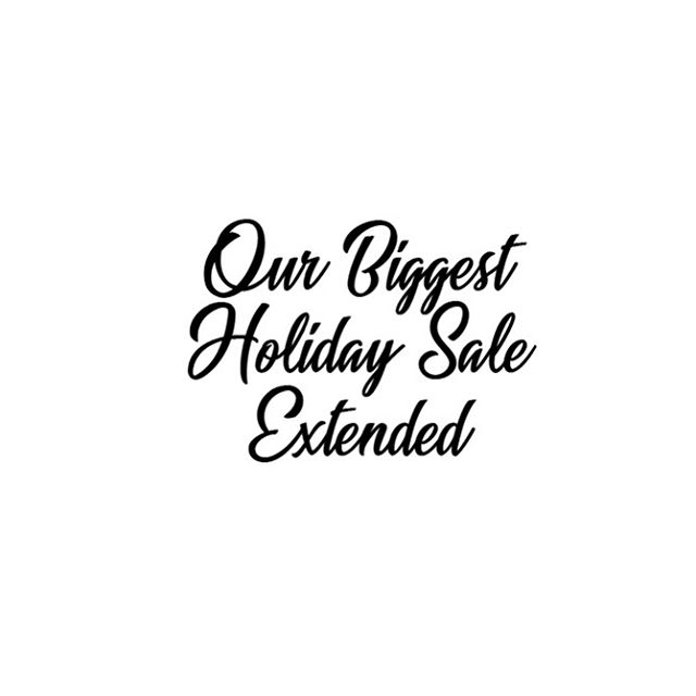 We've extended the sale until tomorrow ✨💫 we also updated the website with more styles & sizes. Shipping All Orders Placed Today, Same Day. ☀️ #holidaysale