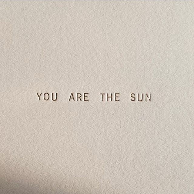 You = ☀️