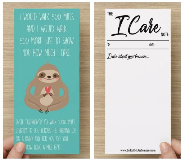 The I Care Note