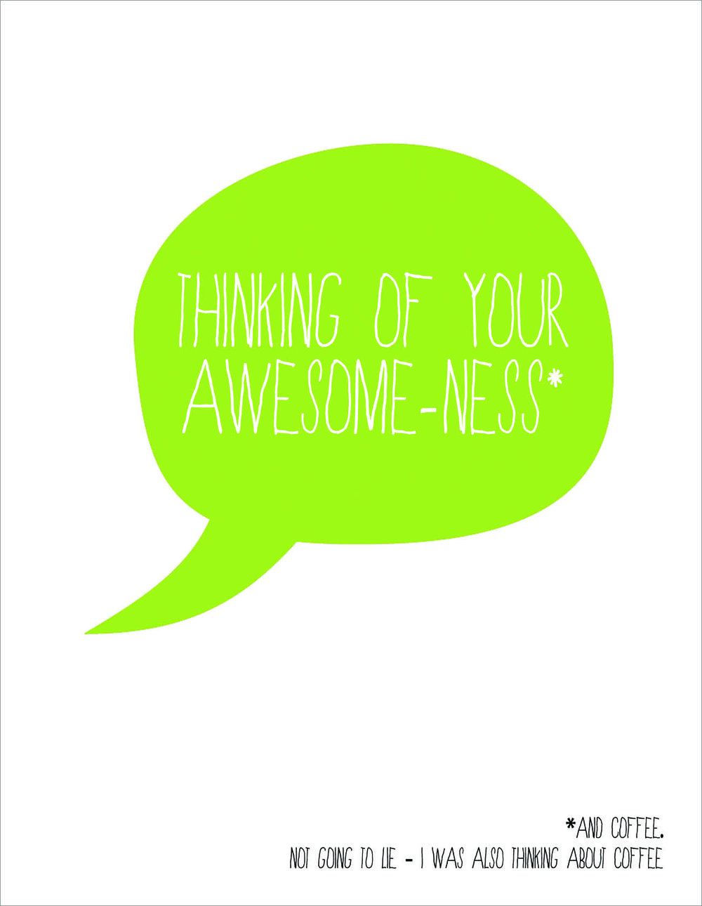 Thinking of Your Awesome-ness Postcard