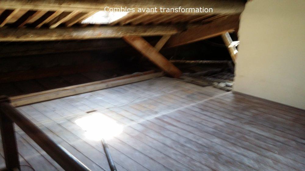 Aménagement des combles, isolation, révision de la toiture, pose de velux.