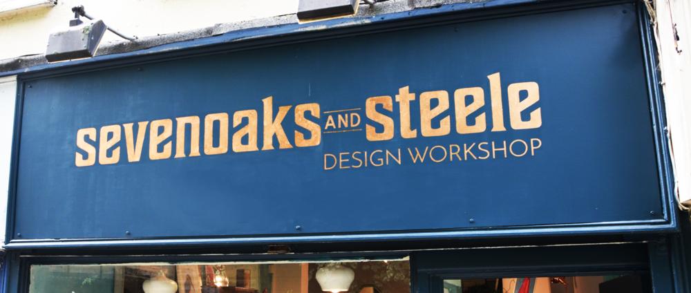 SEVEN OAKS AND STEELE, Albert Walk, Bray. Design: Firefly Design. Copper leaf.