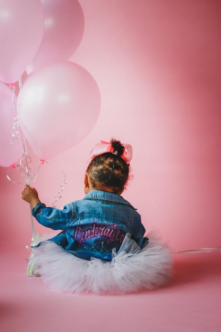 Pink Ballons Babys First Bday